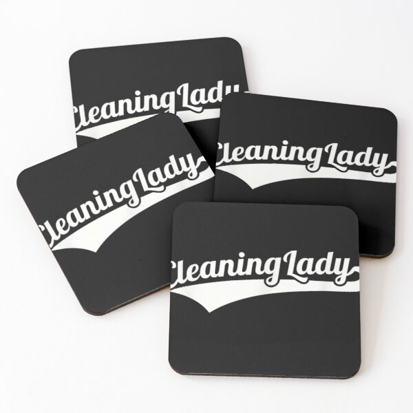 Cleaning lady Coasters (Set of 4)