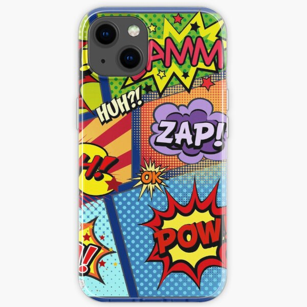 Colorful Comic Book Panels iPhone Soft Case