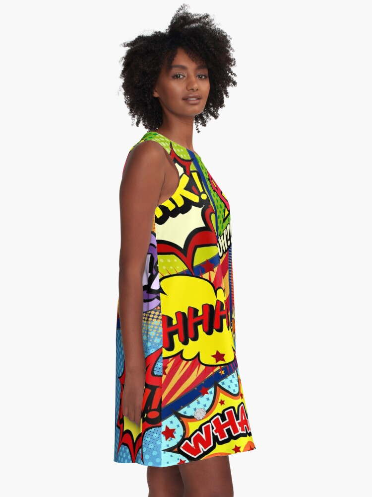 Alternate view of Colorful Comic Book Panels A-Line Dress