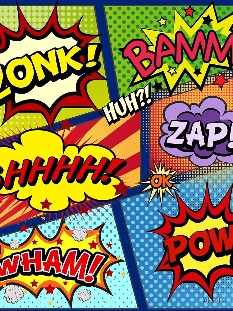 Colorful Comic Book Panels by Alondra