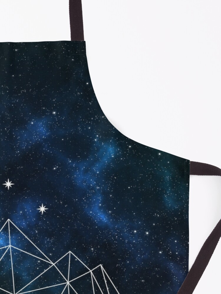 Alternate view of Night court - geometric mountain and stars on galaxy background Apron