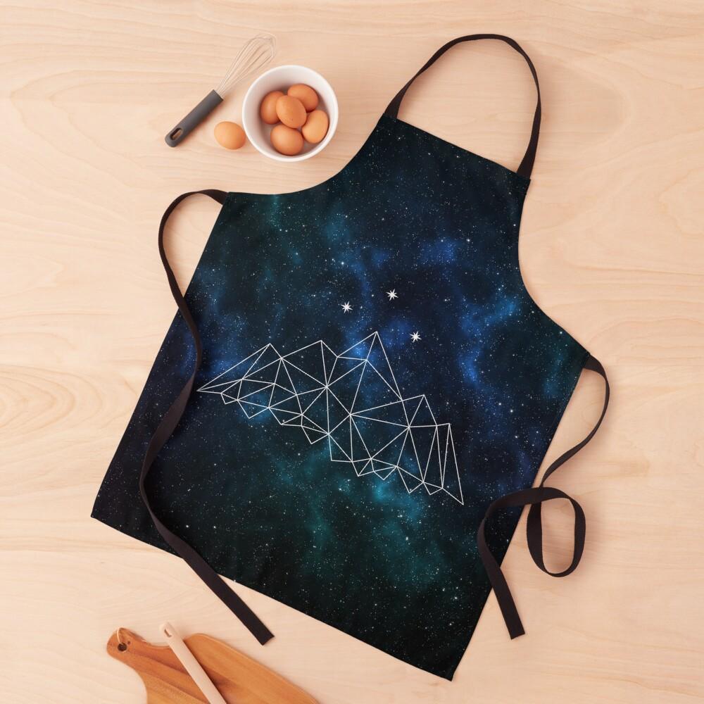 Night court - geometric mountain and stars on galaxy background Apron