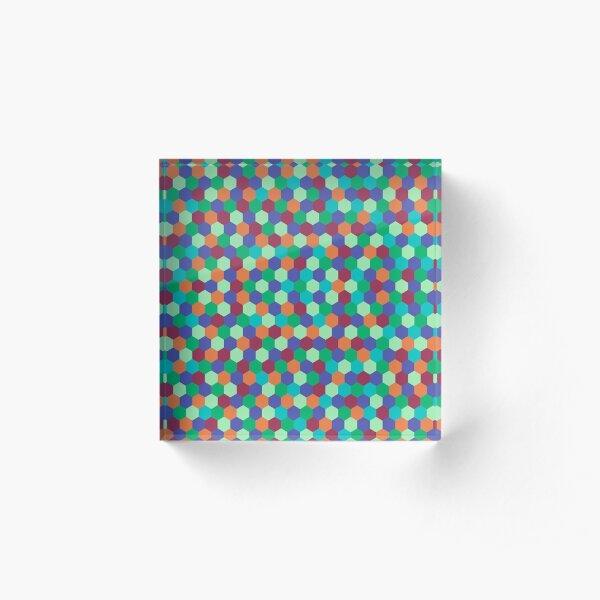 Colorful octagonal geometric pattern Acrylic Block