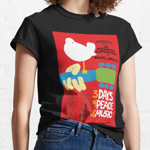 Woodstock Music Festival 1969 Poster Classic T-Shirt