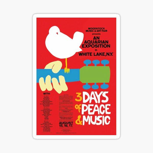 Woodstock Music Festival 1969 Poster Sticker
