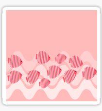 Kitschy Pink Angel Fish Sticker