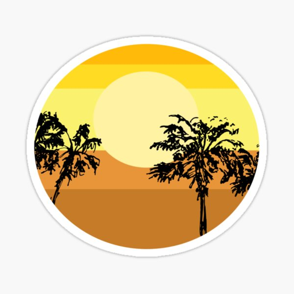 Palm trees tropical view  Sticker