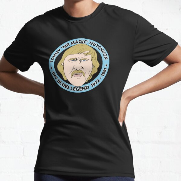 Sky Blues Legend - Tommy Hutchison 'Mr Magic'. Active T-Shirt