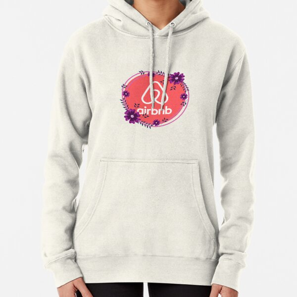 Floral Airbnb Logo Design for Superhosts Pullover Hoodie
