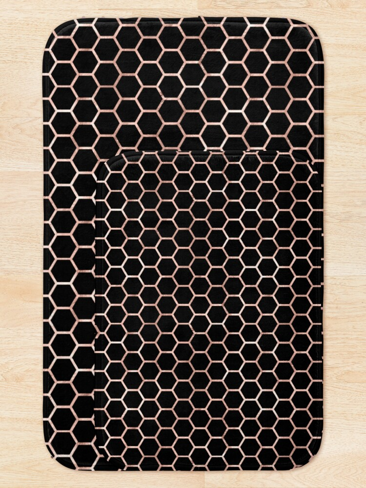 Alternate view of Rose Gold Honey Comb Bath Mat