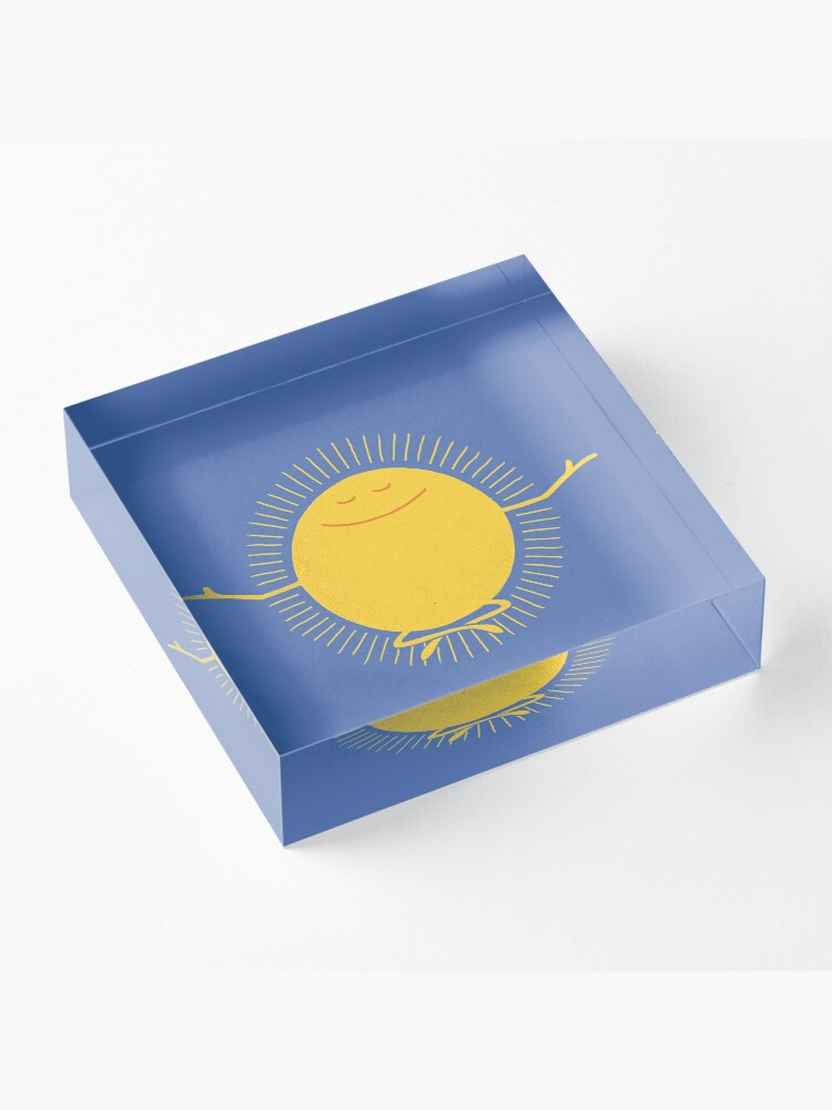 Alternate view of Sun Worshipper Acrylic Block