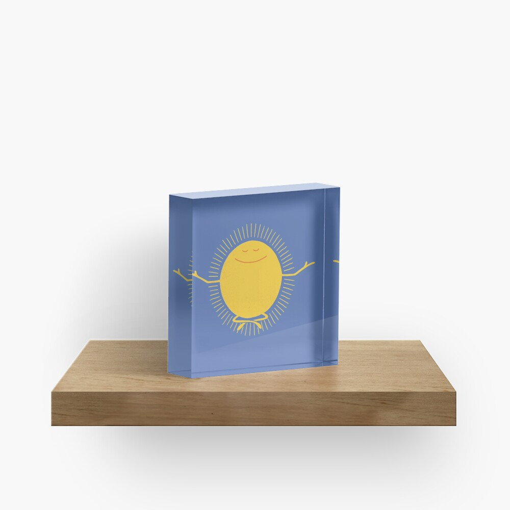 Sun Worshipper Acrylic Block