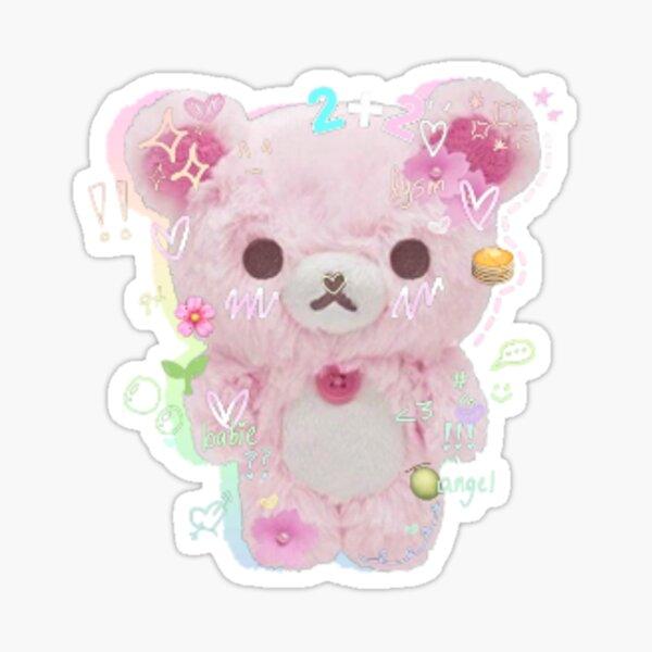 pink rilakkuma plush rainbow edit Sticker