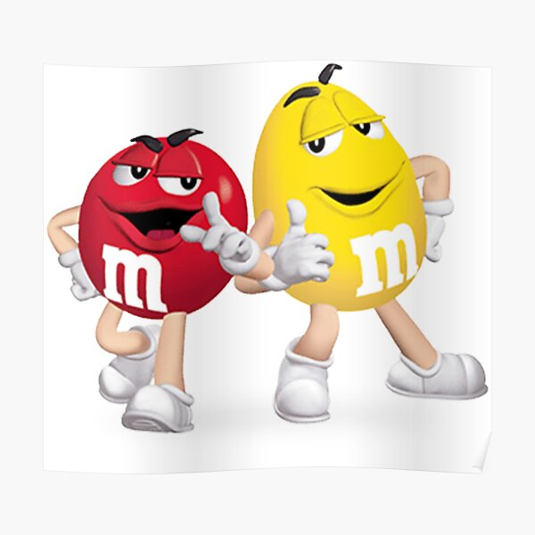 m&m's red and yellow Poster