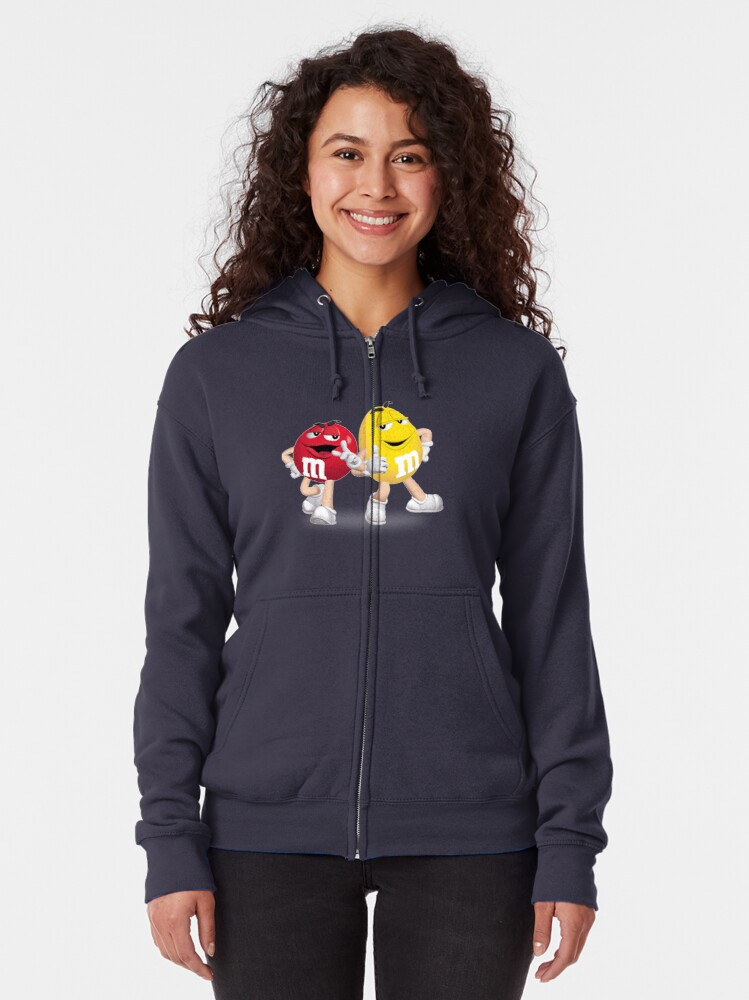 Alternate view of m&m's red and yellow Zipped Hoodie