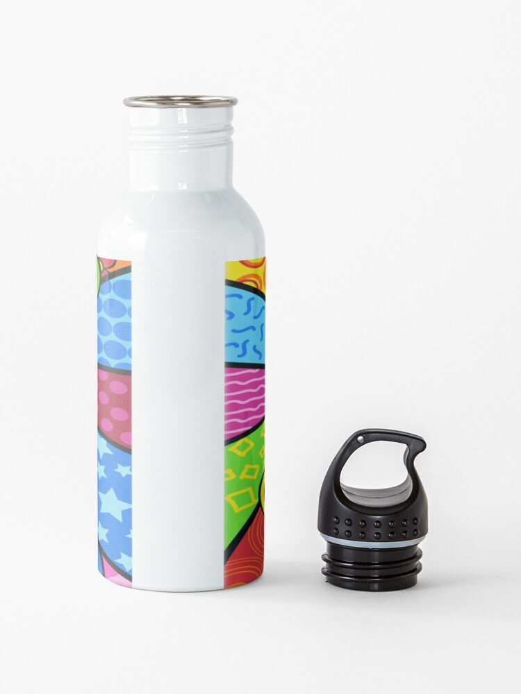 Alternate view of Multicolored Peace Sign Merchandise Water Bottle