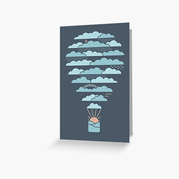 Weather Balloon Greeting Card