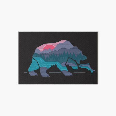 Bear Country Art Board Print