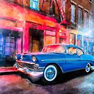 1956 Chevy Bel Air - Classic America By Night by Mark Tisdale