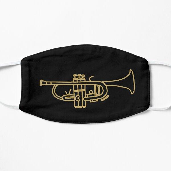 Gold Trumpet Line Art Flat Mask