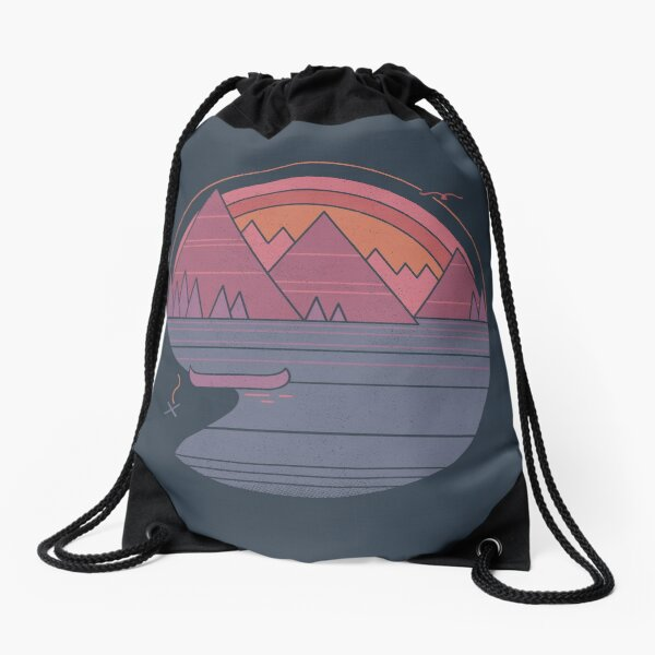 The Mountains Are Calling Drawstring Bag