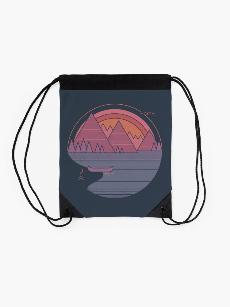 Alternate view of The Mountains Are Calling Drawstring Bag