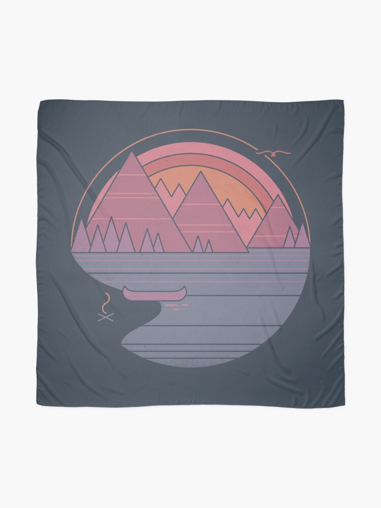 Alternate view of The Mountains Are Calling Scarf
