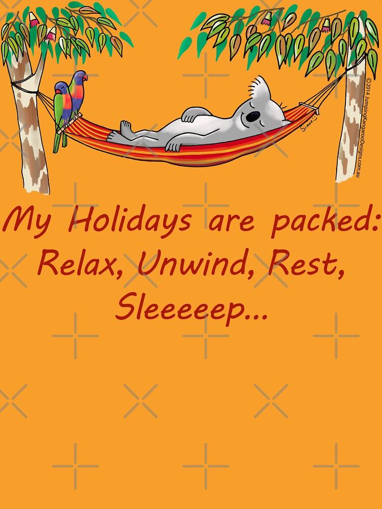 Hammock Sleeping Koala - My Holidays are packed by JumpingKangaroo