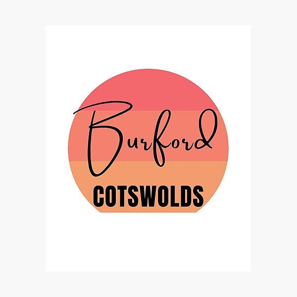 Burford Cotswolds Retro Sunset Photographic Print