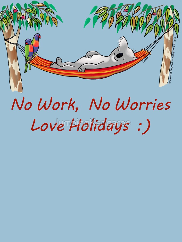 Hammock Sleeping Koala - No work, no worries by JumpingKangaroo