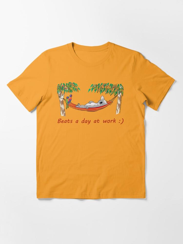 Alternate view of Hammock Sleeping Koala - Beats a day at work Essential T-Shirt