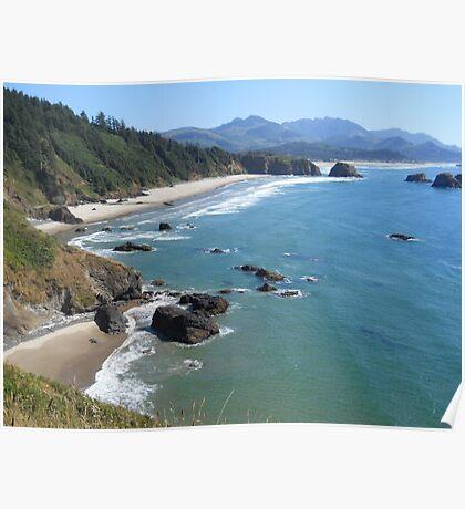 Ecola Beach, Oregon Poster