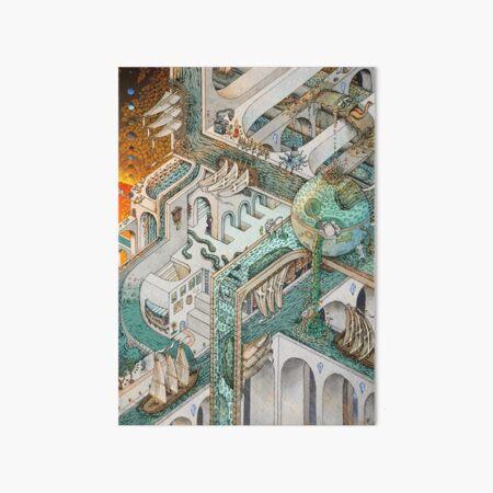 Fishing for Escher Art Board Print