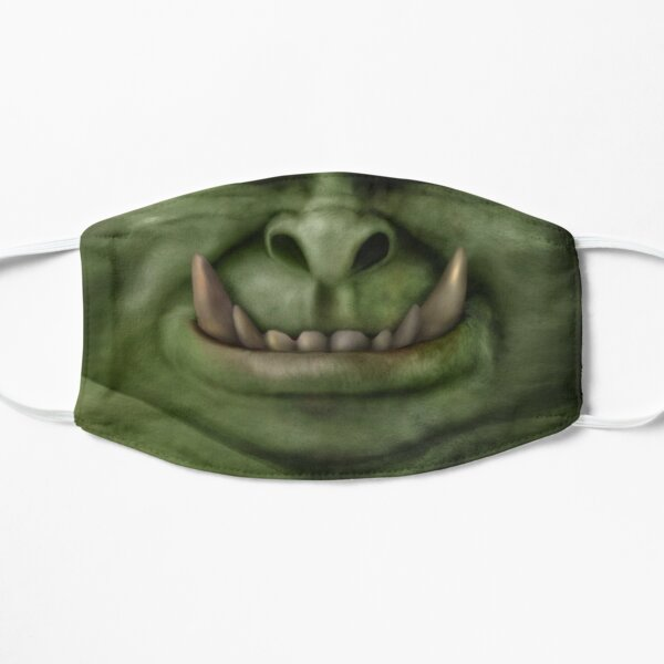 Orc Face with Smile Flat Mask