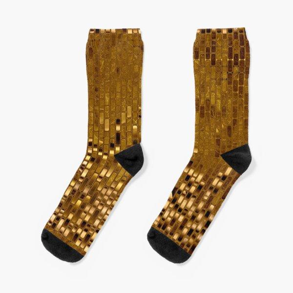 Gold Sequins | Gold Metallic Texture | 70s Disco Inspired  Socks