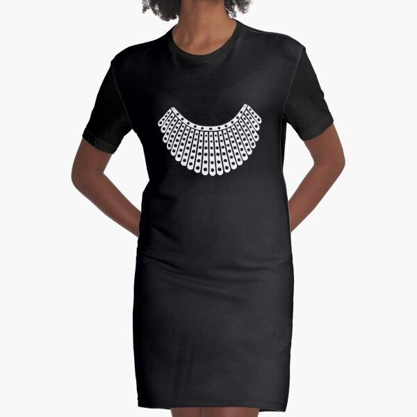 Ruth Bader Ginsburg Dissent Collar Graphic T-Shirt Dress
