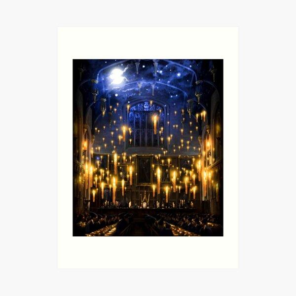 Bougies au clair de lune Impression artistique