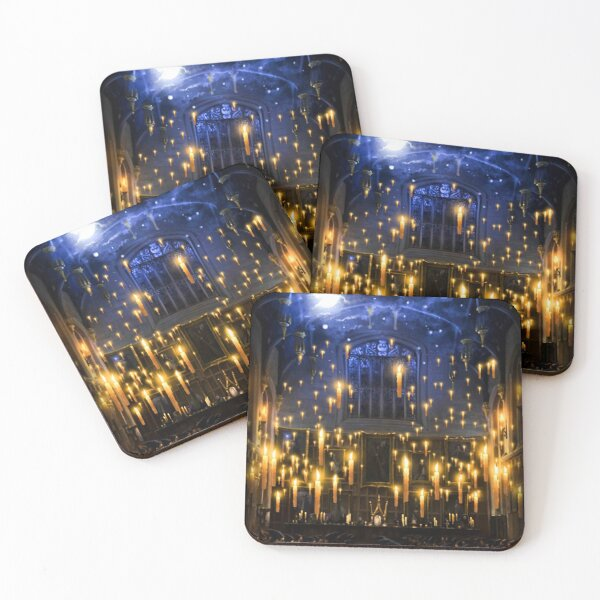 Moonlight candles Coasters (Set of 4)