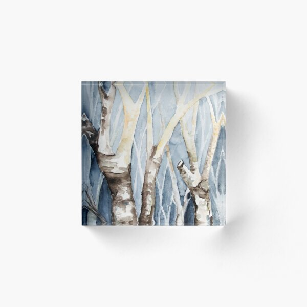 Dreaming Birch Trees Acrylic Block