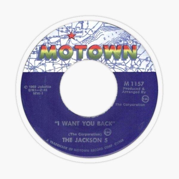 The Jackson 5 I Want You Back label Transparent Sticker
