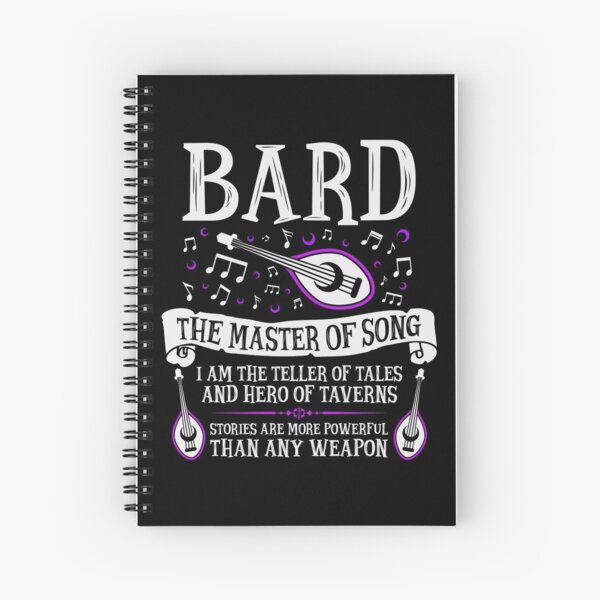 BARD, THE MASTER OF SONG - Dungeons & Dragons (White) Spiral Notebook