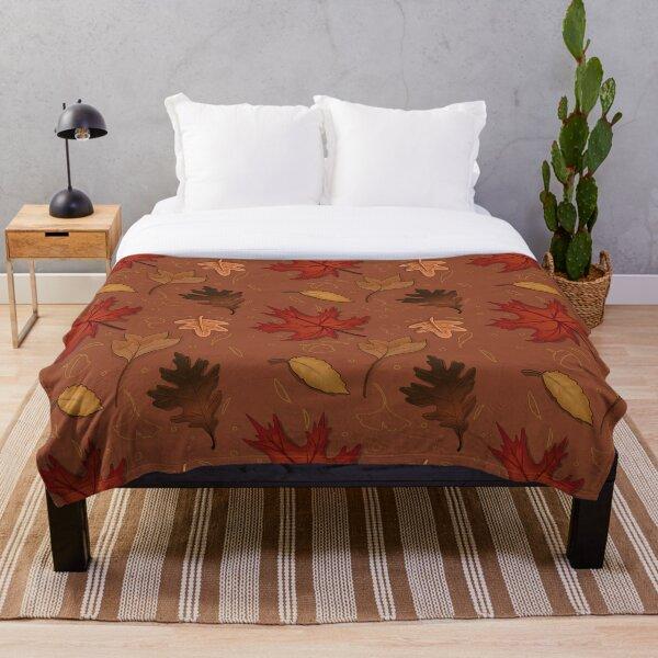 Autumn leaves pattern Throw Blanket