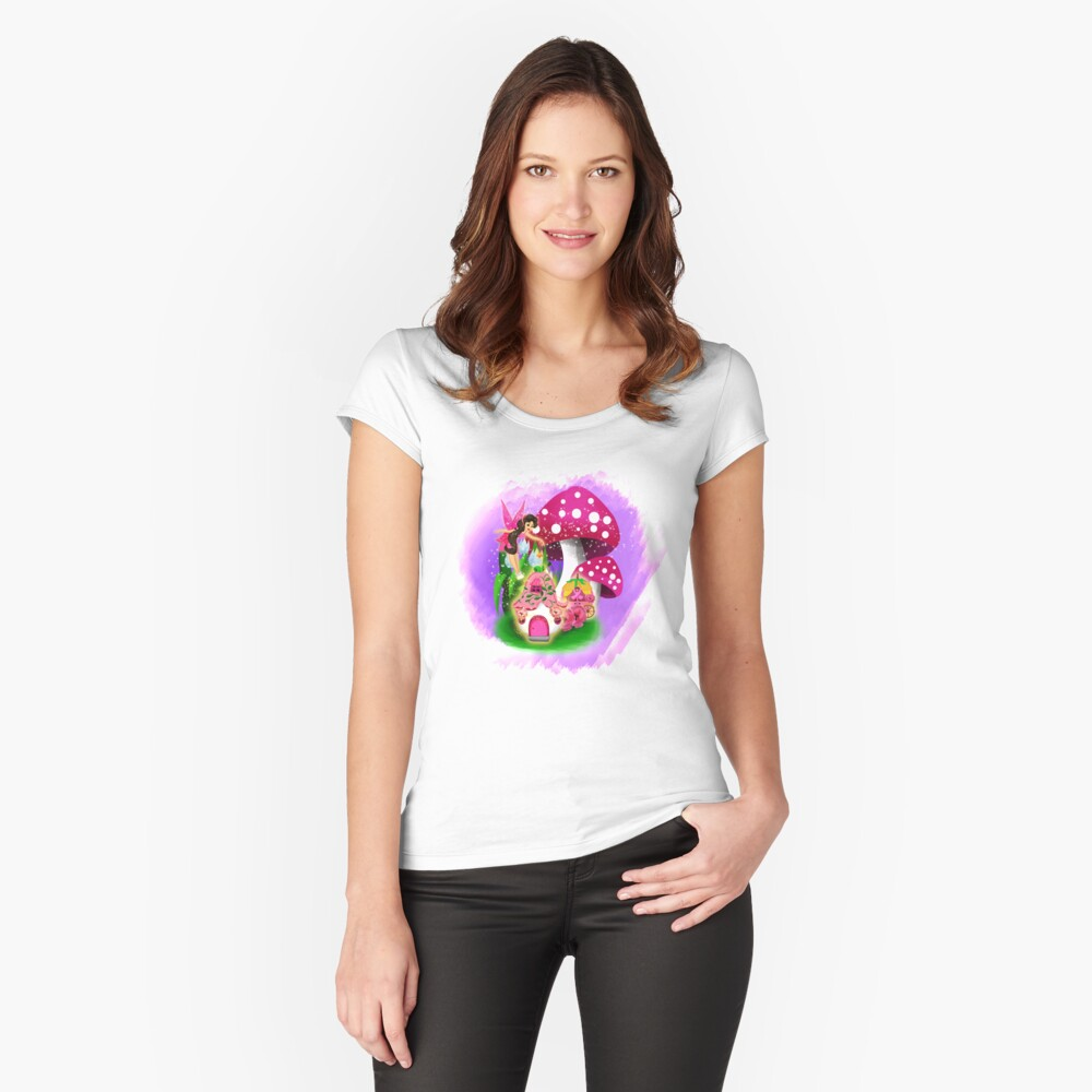 Meet Esperanza the Hope and Faith Fairy™ Fitted Scoop T-Shirt