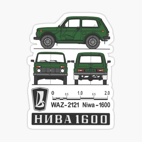 Lada Niva (grün) Sticker