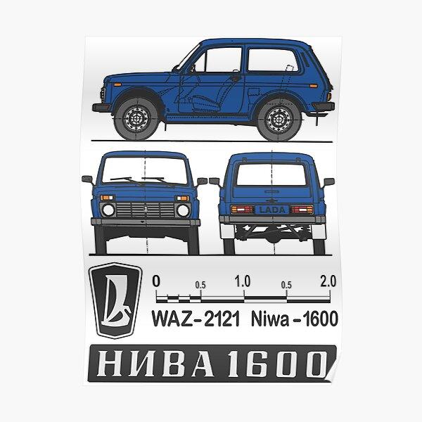 Lada Niva (blau) Poster