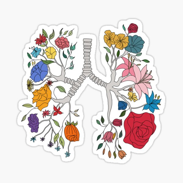Flower lungs Sticker