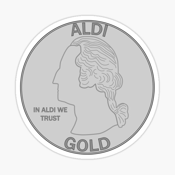 ALDI Quarter Sticker