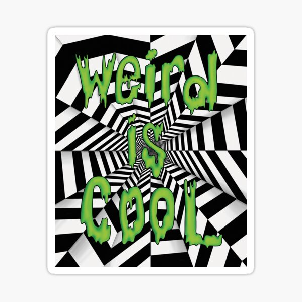 Psychedelic Trippy Optical Illusion Sticker