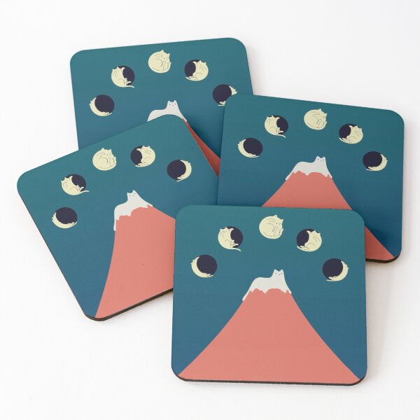 Cat Landscape 88 Coasters (Set of 4)
