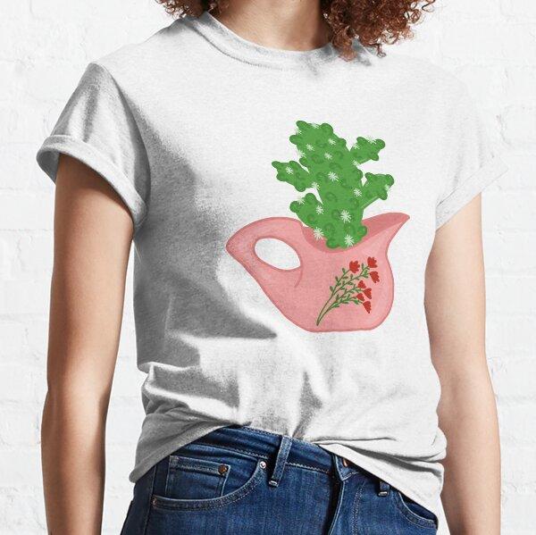 Cactus In A Cream Pitcher Classic T-Shirt
